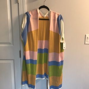 Cardigan new with tags, colorful